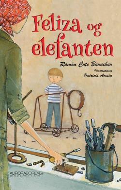 Omslag børnebog Feliza og elefanten til køb ISBN 978-87-970551-7-5 Feliza og elefanten børnebog fantasi kærlighed